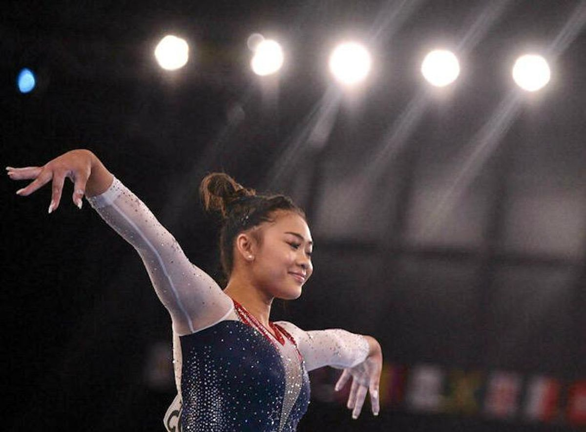 USA's Sunisa Lee wins Olympic all-around gold as Biles cheers her on
