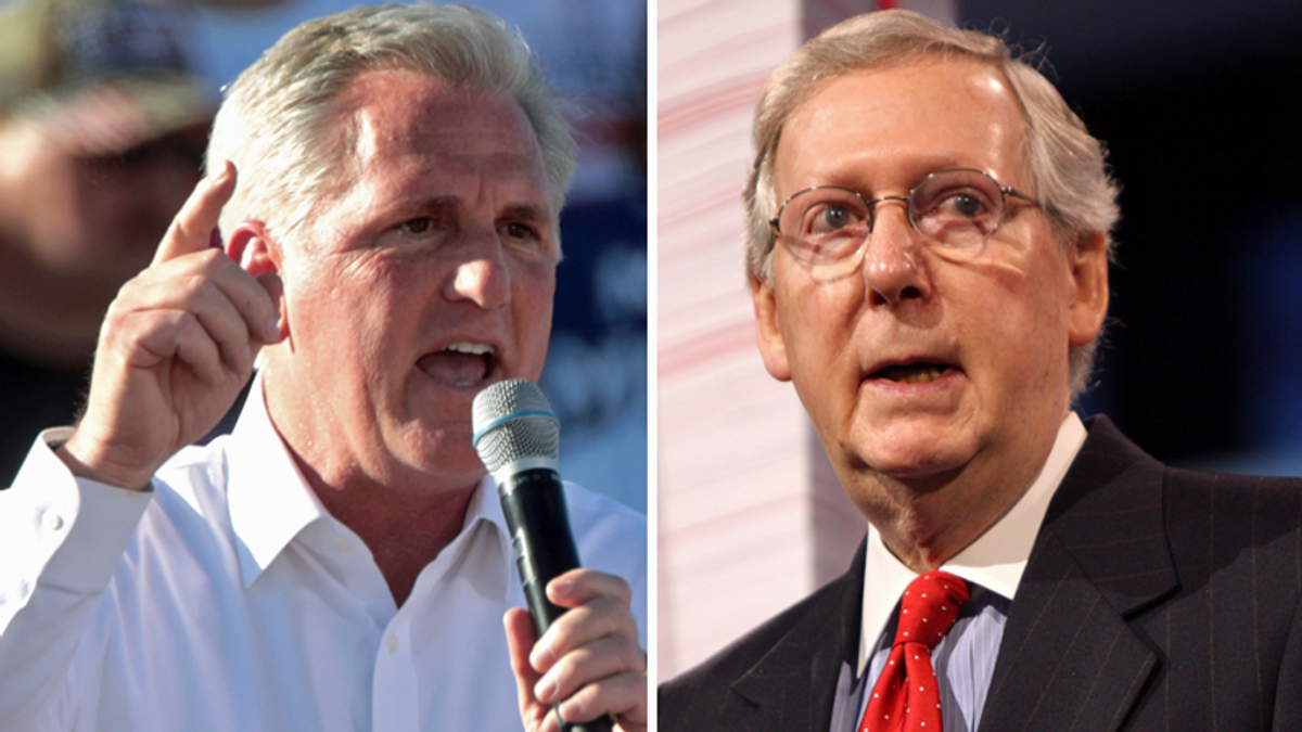 Here's how Kevin McCarthy and Mitch McConnell are diverging on Donald Trump