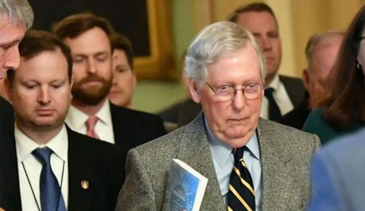 Democrats are celebrating the bipartisan infrastructure deal — but it looks like McConnell's latest trap