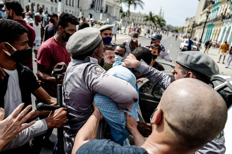 US sanctions top Cuban police for suppressing protests