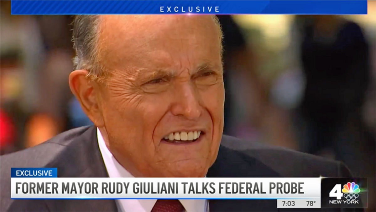 Rudy Giuliani lashes out at critics who think he's a criminal: 'You're probably really stupid'
