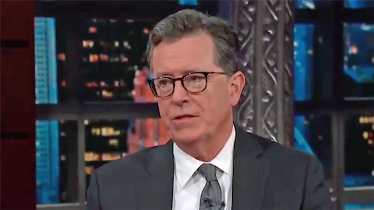 WATCH: Stephen Colbert labels Trump supporters a 'death cult' for refusing vaccines
