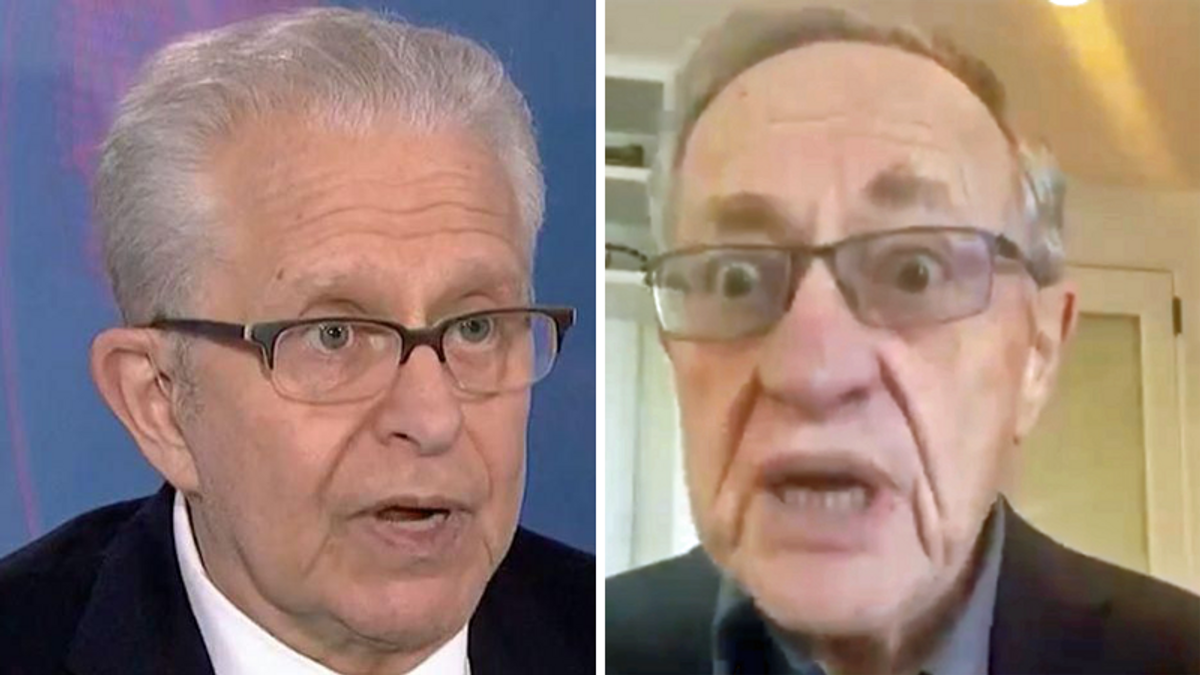 Laurence Tribe actually praised Harvard Law colleague Alan Dershowitz for a Fox News appearance