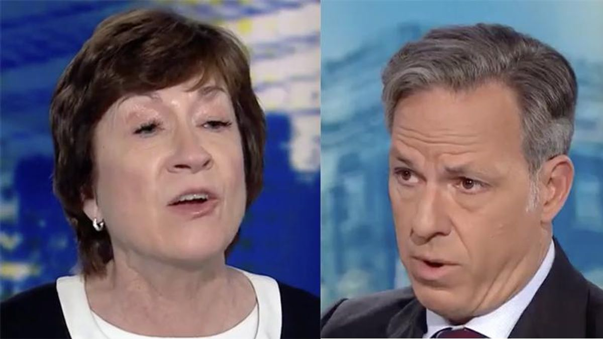 WATCH: CNN's Tapper repeatedly fact checks Susan Collins after she criticizes the House Capitol riot committee