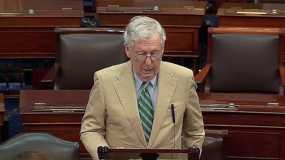 'You aren't voting for it anyway': Mitch McConnell trashed for stopping debate on the infrastructure bill