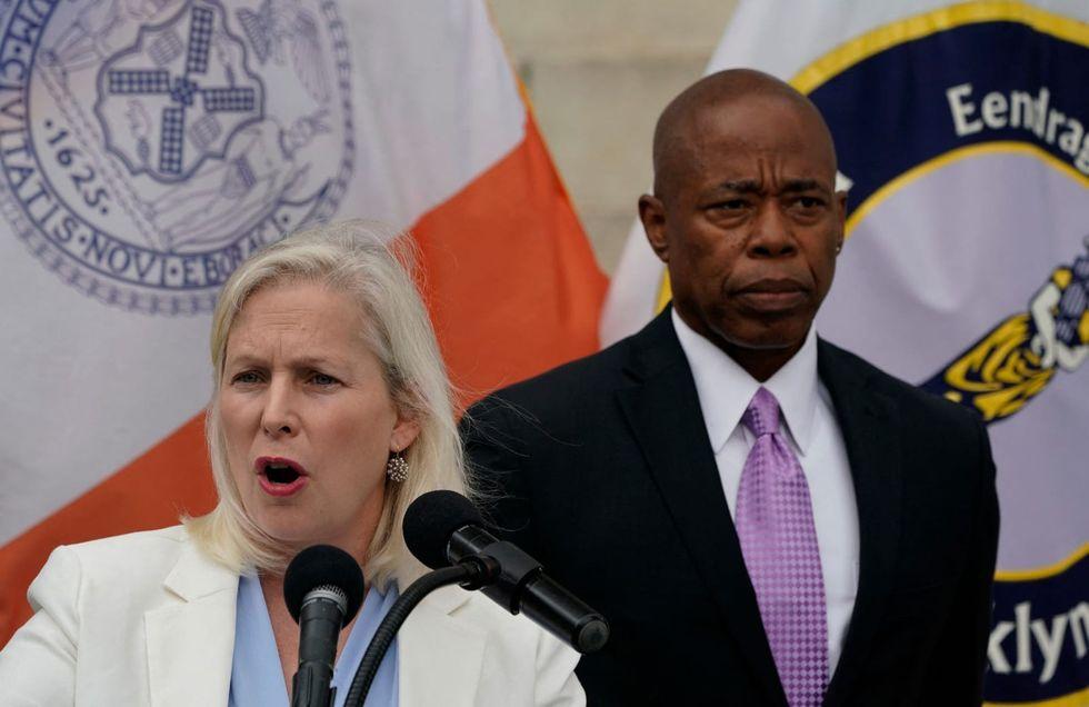 Sen. Gillibrand, NYC mayor nominee Adams press for federal bill on gun trafficking