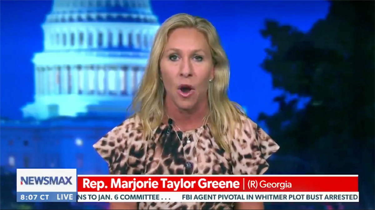 Marjorie Taylor Greene takes her lies to Newsmax after Twitter suspension