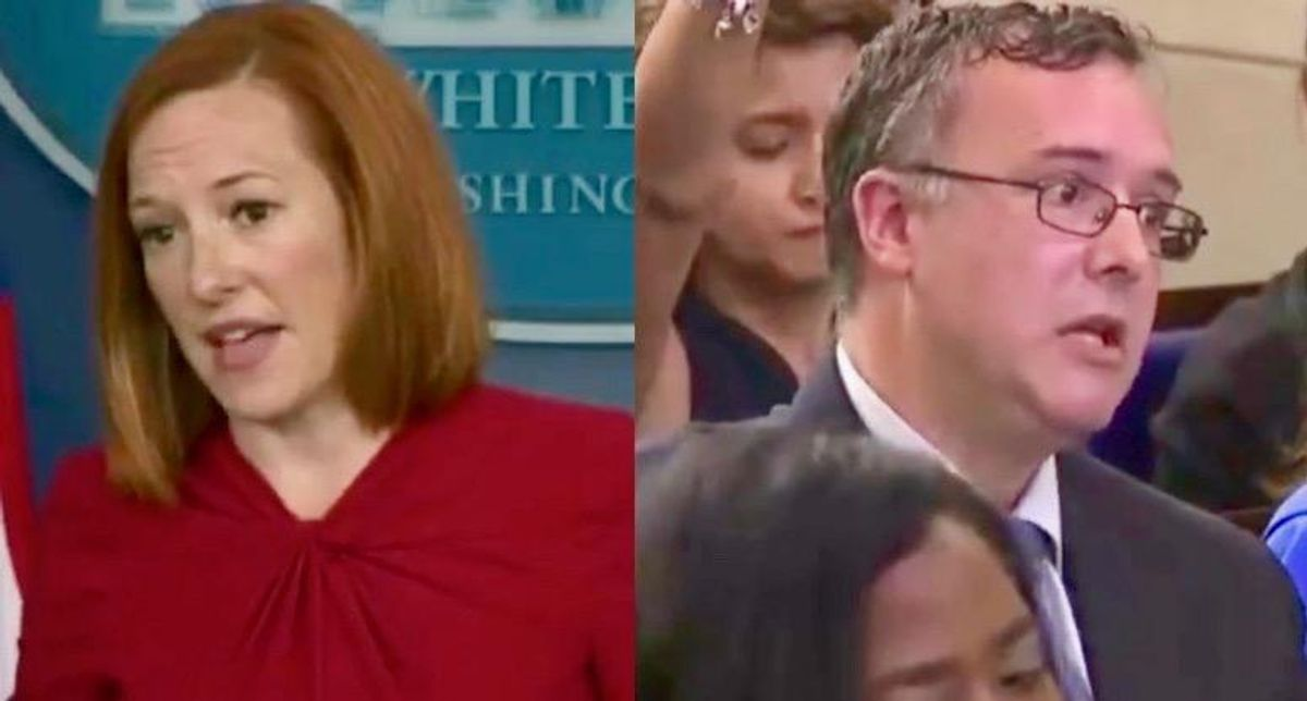 'Maybe you have that information to provide?': Jen Psaki expertly dismantles reporter's pro-Trump anti-vaxx claim