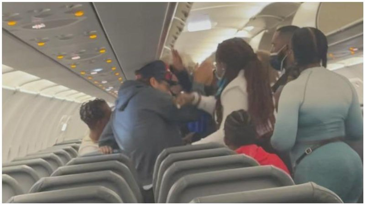 Shocking brawl erupts on Frontier Airlines flight – and passengers say it was sparked by racism