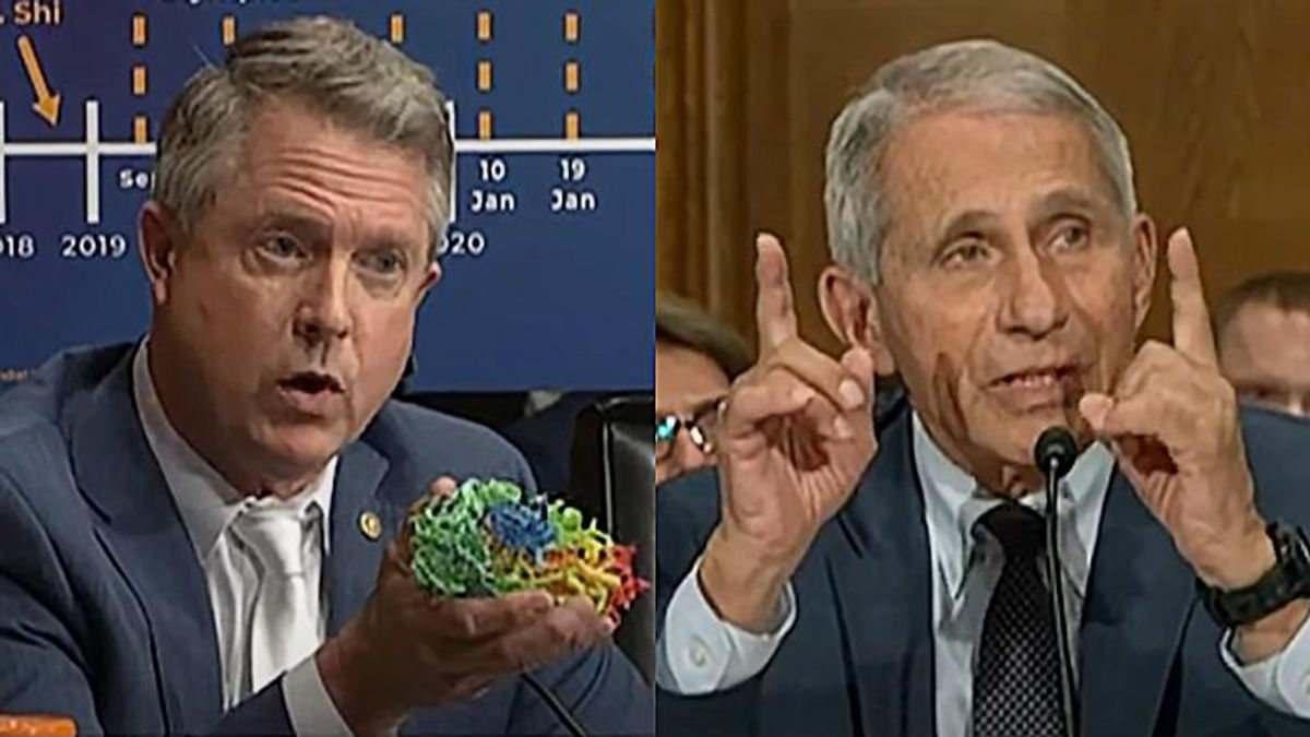WATCH: Fauci clashes with Kansas Republican for pushing claim NIH was involved in creating COVID-19 spike protein