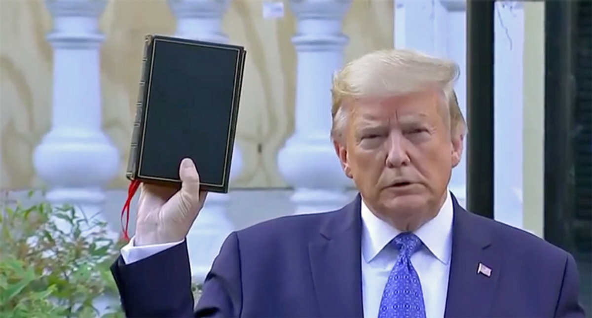 Here's why Mike Pence didn't go with Trump for his infamous Bible photo-op: book