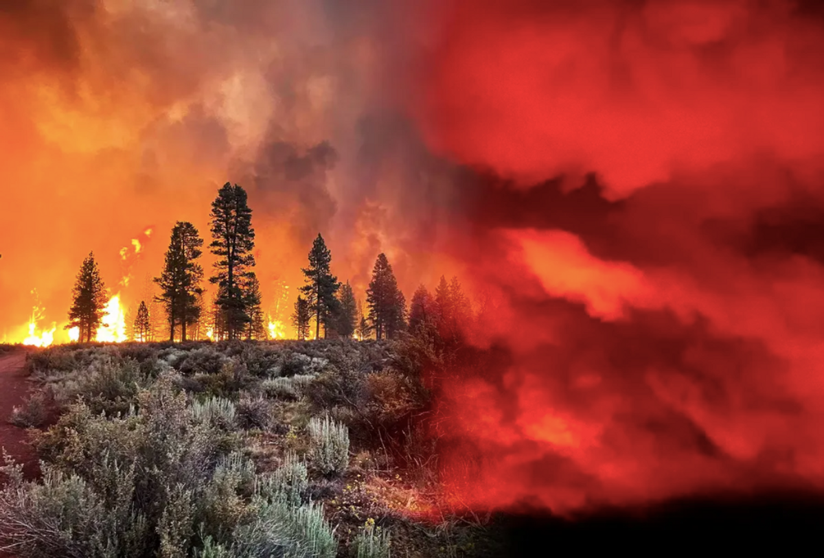 An Oregon wildfire is so intense it is literally creating its own weather system