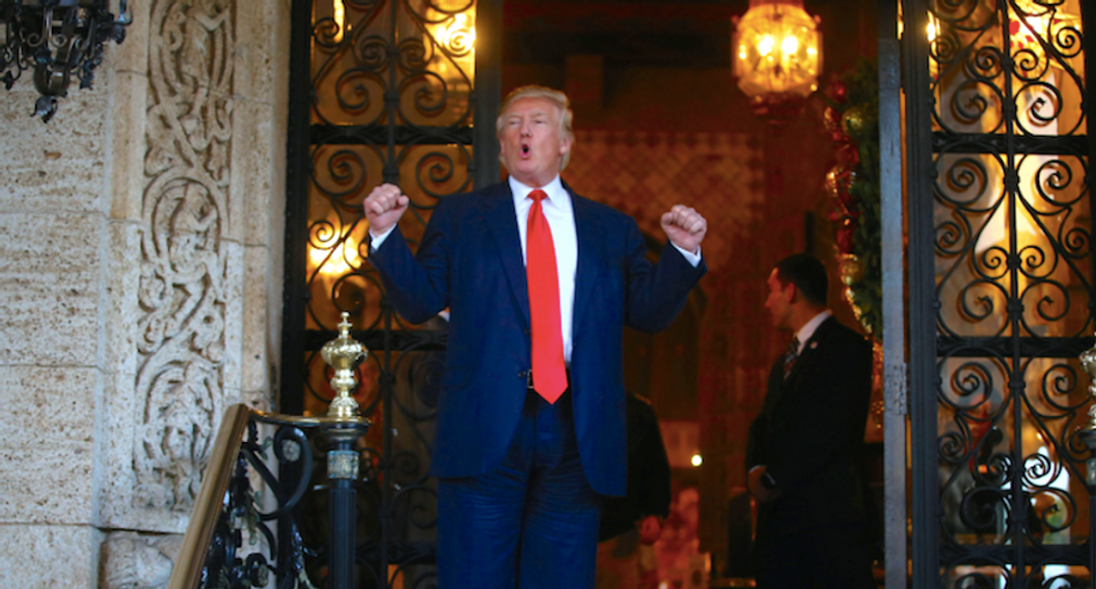 Federal committee spending at Trump properties is down -- but not out