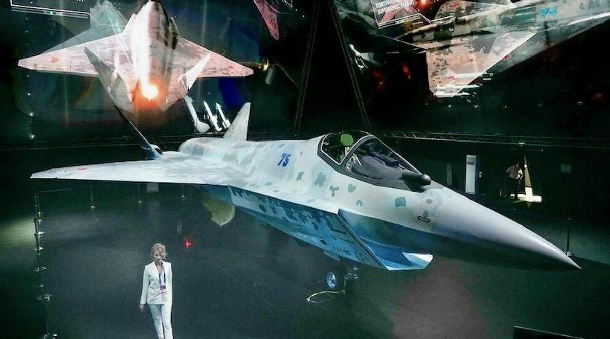 Russia unveils stealth fighter jet to compete with F-35s