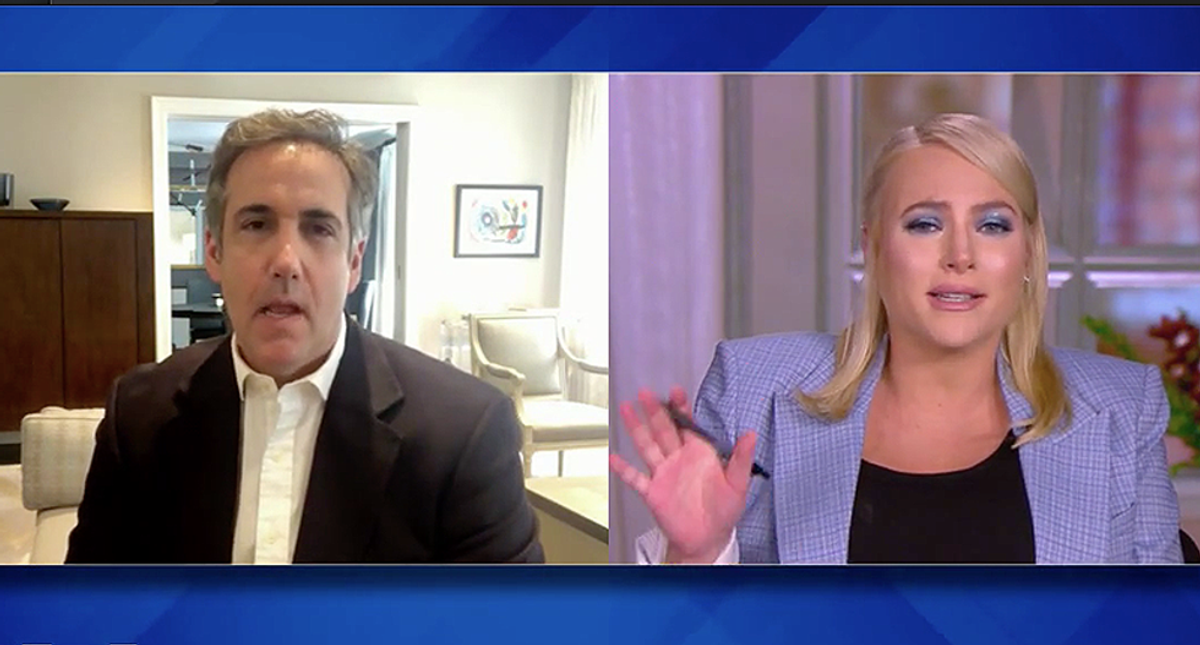 'We're really kind of sorry': Michael Cohen says 'The View' co-hosts apologized for Meghan McCain during his appearance