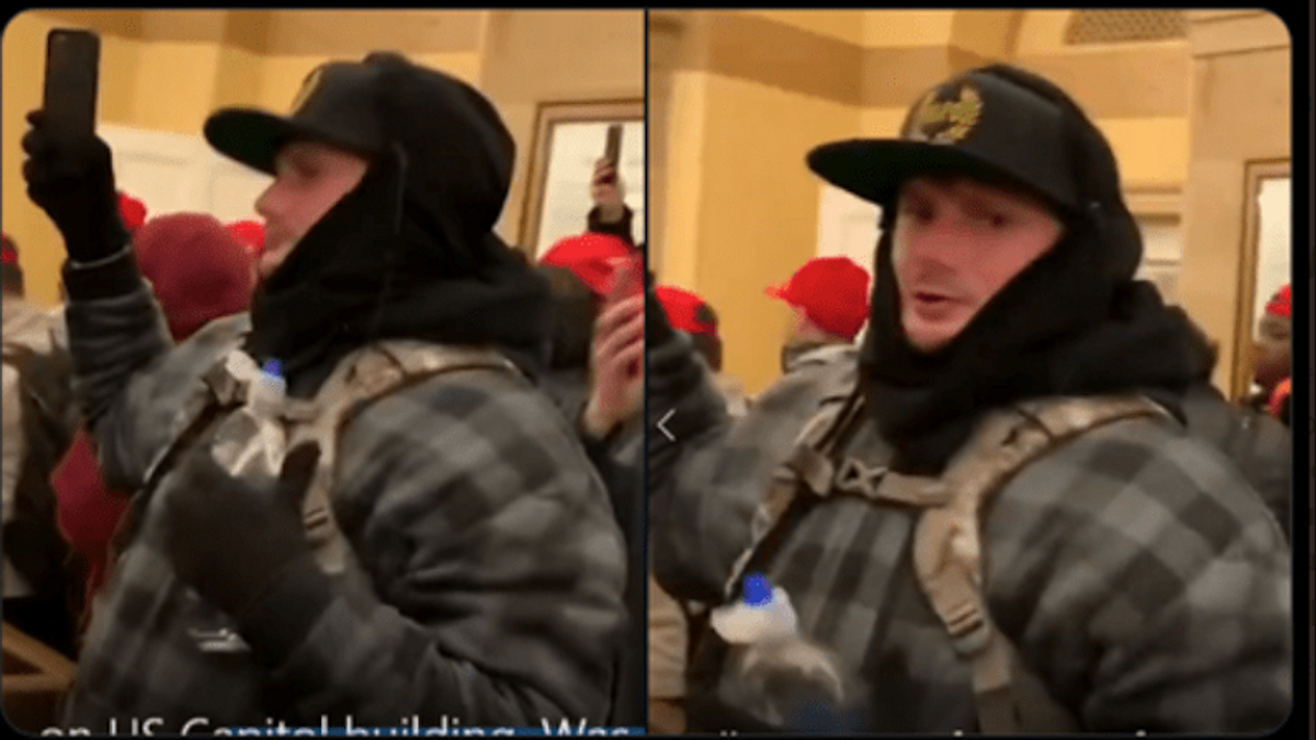 'Chaos is coming': Proud Boy insurrectionist who yelled 'break it down' outside door where Ashli Babbitt was shot is pleading guilty