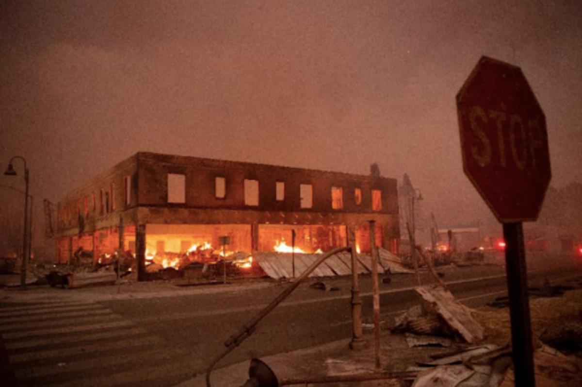 Dixie fire levels California community as residents flee blaze