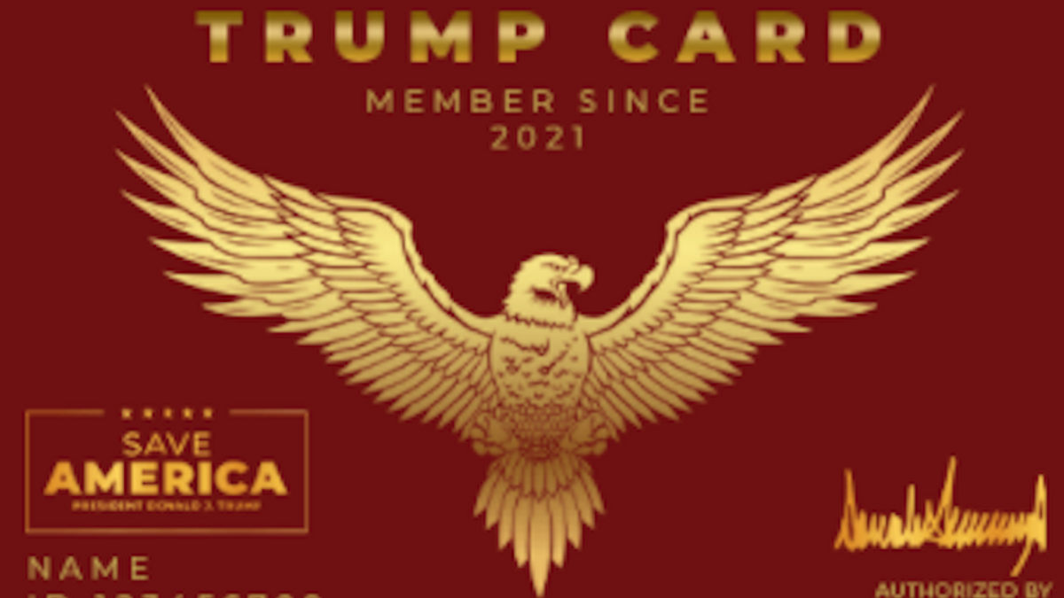 'Did Nazi this coming': Trump's PAC brutally mocked over plan to issue membership cards to loyal supporters