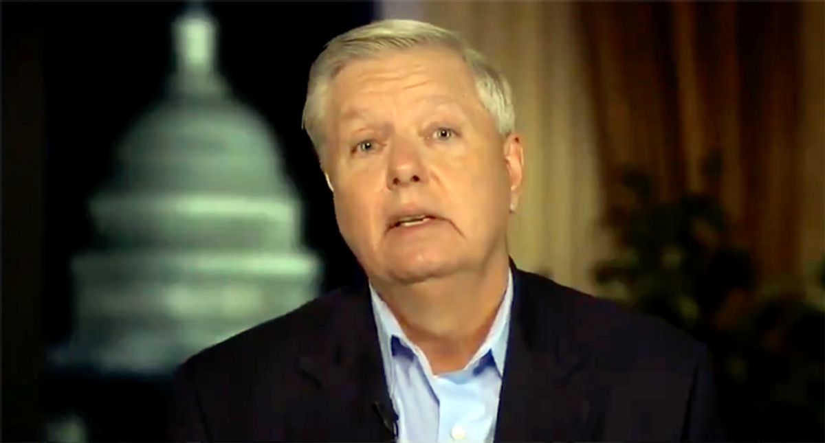 CNN guest drops the mic on Lindsey Graham -- and says he's a better Trump 'golf caddy' than a senator