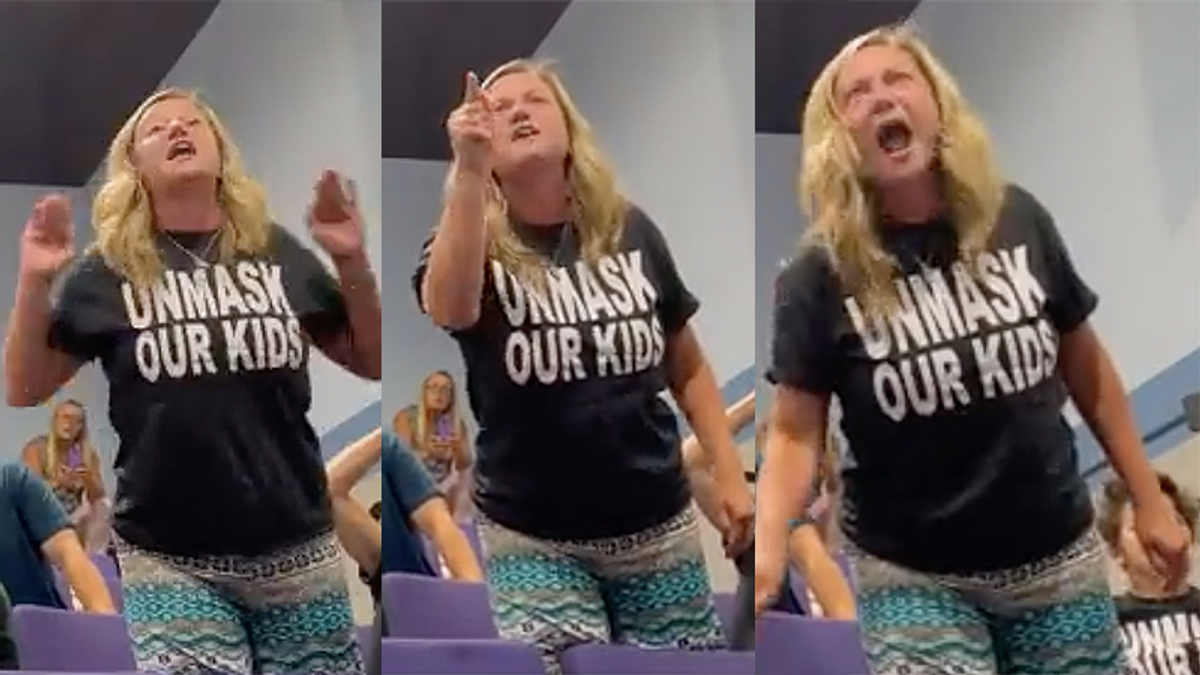 Screaming woman demands school committee do a 're-vote' after approving mask mandate — they adjourned instead
