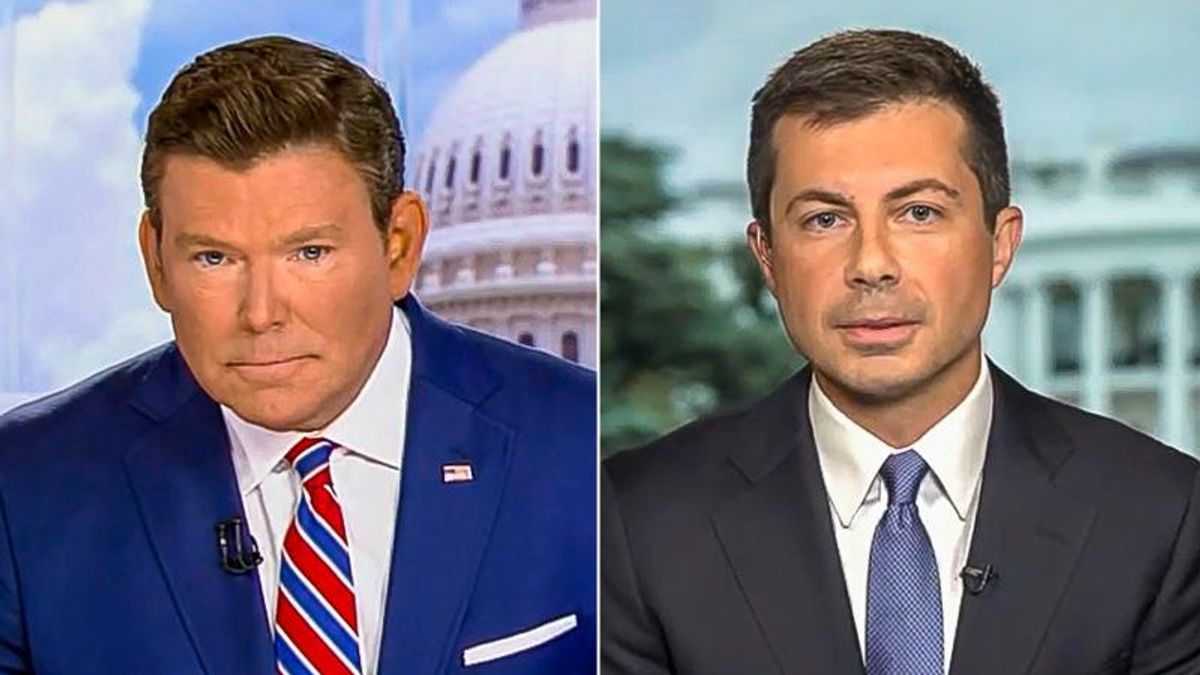 Pete Buttigieg busts Fox News over uninformed question on electric cars: 'Tesla doesn't even have tailpipes'
