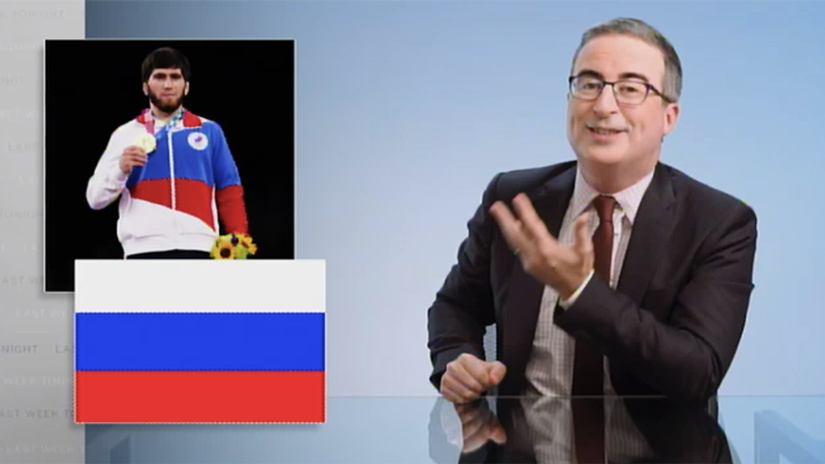 John Oliver hilariously taunts Russia for their pathetic attempt to be part of the Olympics