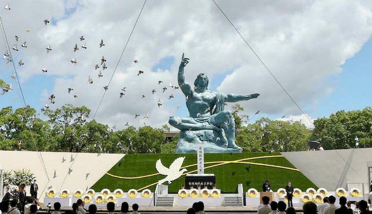 Nagasaki marks atomic bomb anniversary with sombre ceremony