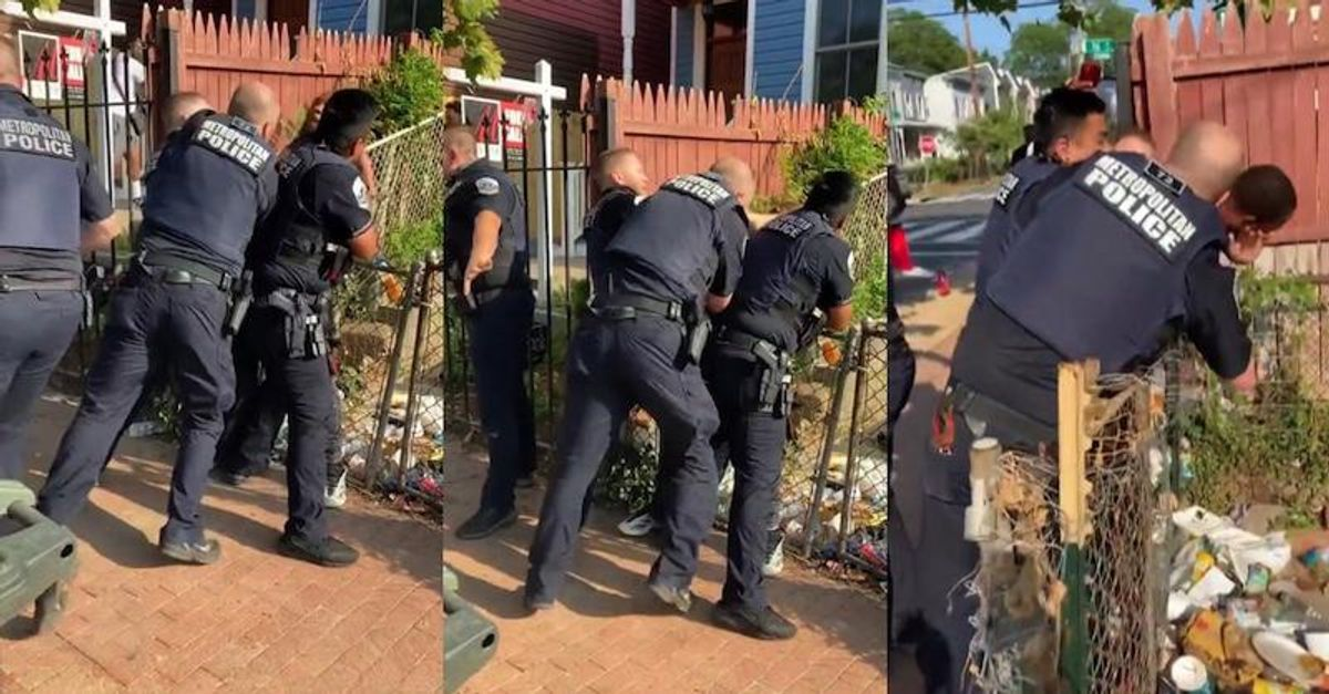 Viral video shows white DC cop punching black man 12 times as other officers do nothing to stop him