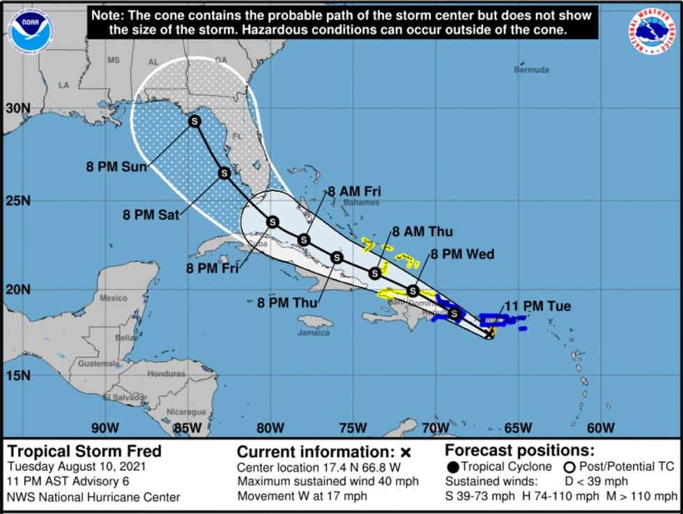 Tropical Storm Fred becomes 6th storm of revived Atlantic hurricane season
