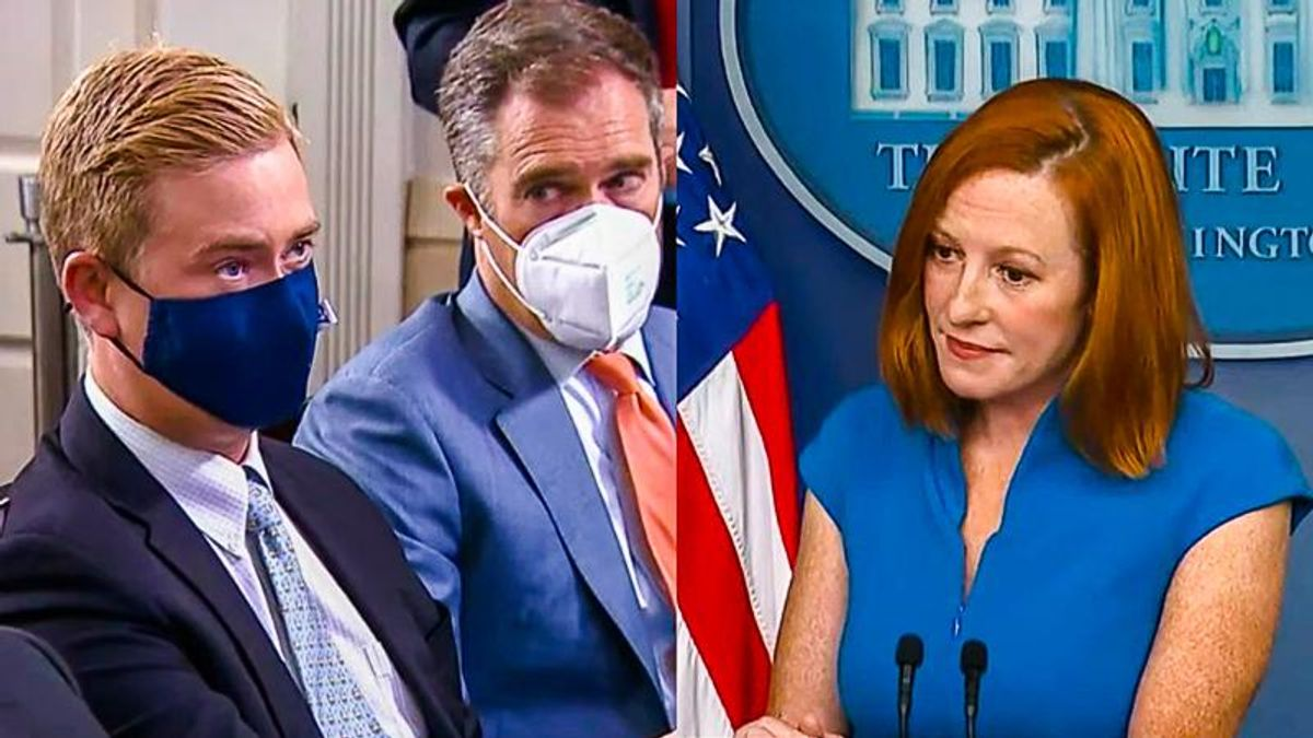 WATCH: Jen Psaki reminds Peter Doocy of Trump's plan to 'inject poison' into people as Covid cure