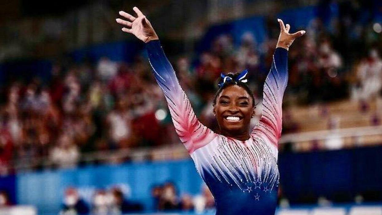 Simone Biles wins bronze medal on balance beam at Olympic return
