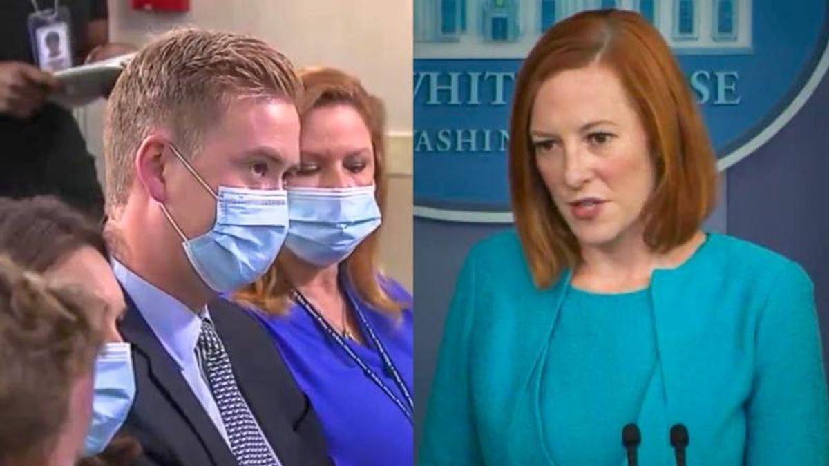 'We do something new here': Jen Psaki destroys Peter Doocy with her best 10-second smack down yet
