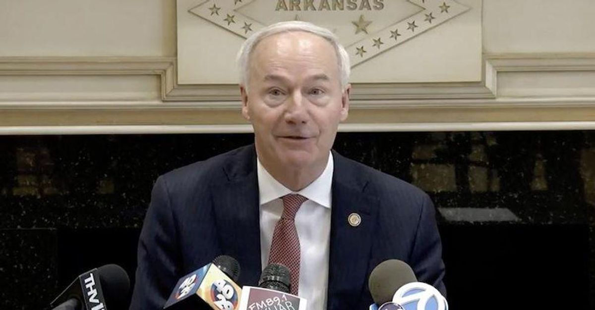 Arkansas GOP governor backtracks on school mask mandate ban -- and admits original law was a mistake