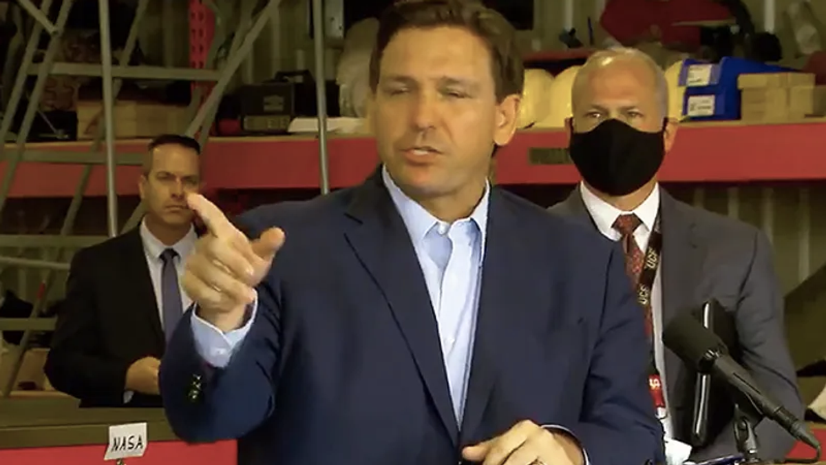 Ron DeSantis's poll numbers sink after shrugging off record-shattering Florida COVID hospitalizations