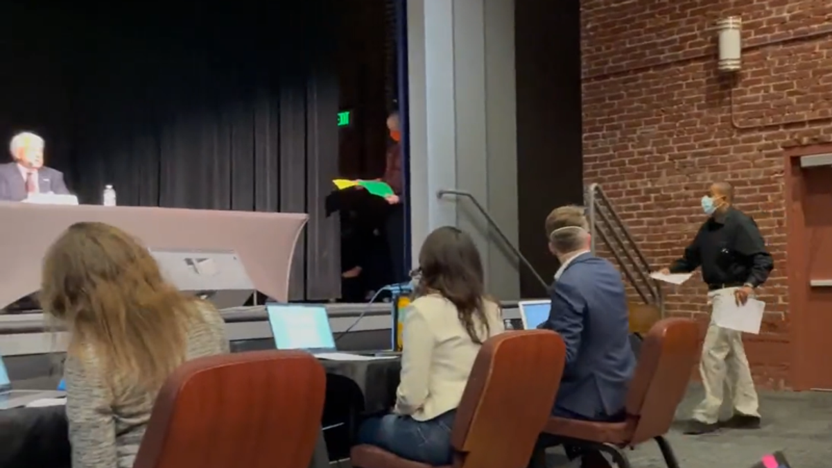 WATCH: Republican gets served with subpoena in the middle of California recall debate