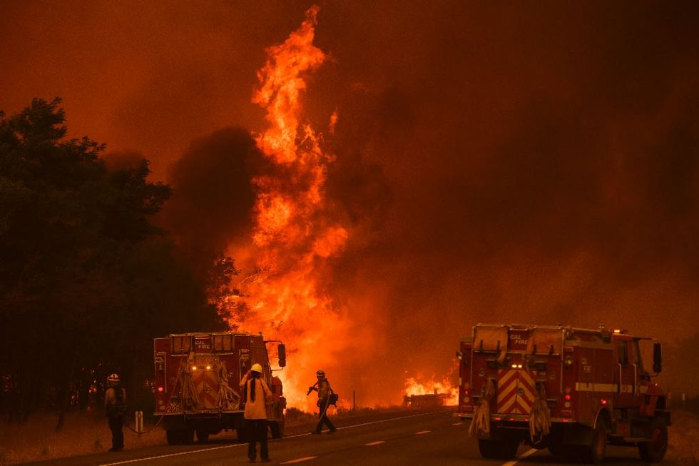 New wildfire explodes near California state capital