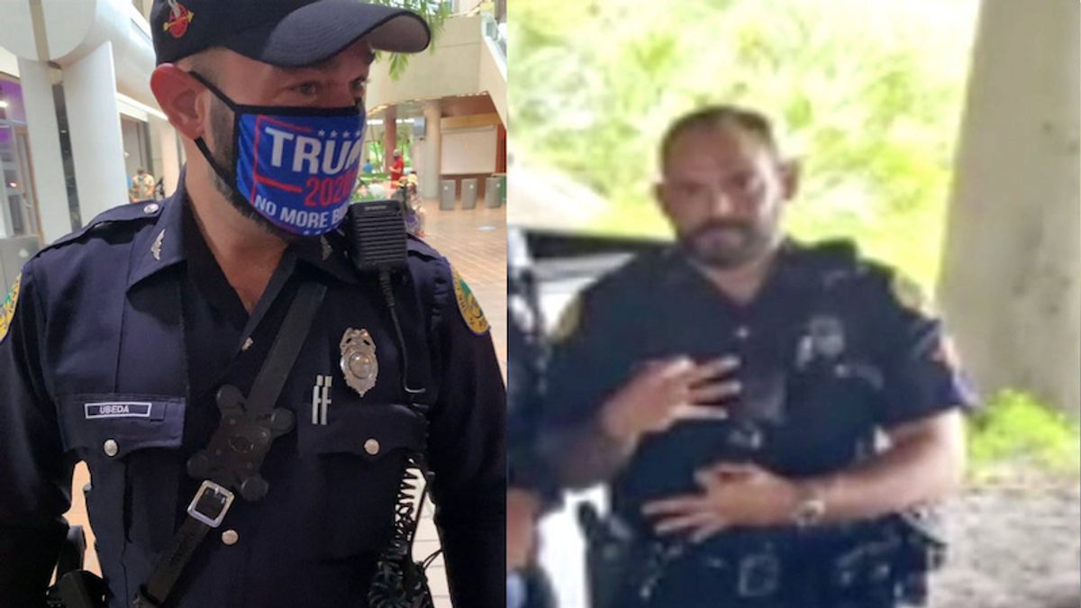 Trump-loving Miami cop suspended after being accused of using 'white power' hand gesture