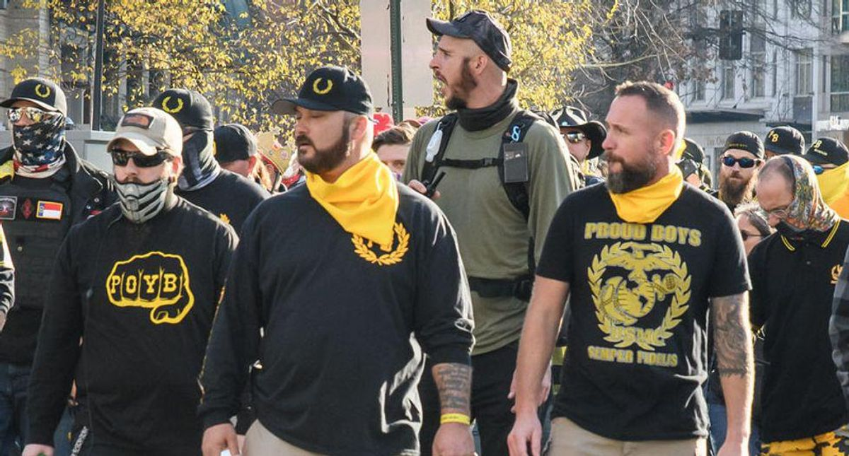 Unvaccinated terror: Proud Boys push the anti-vaccination movement into a violent threat