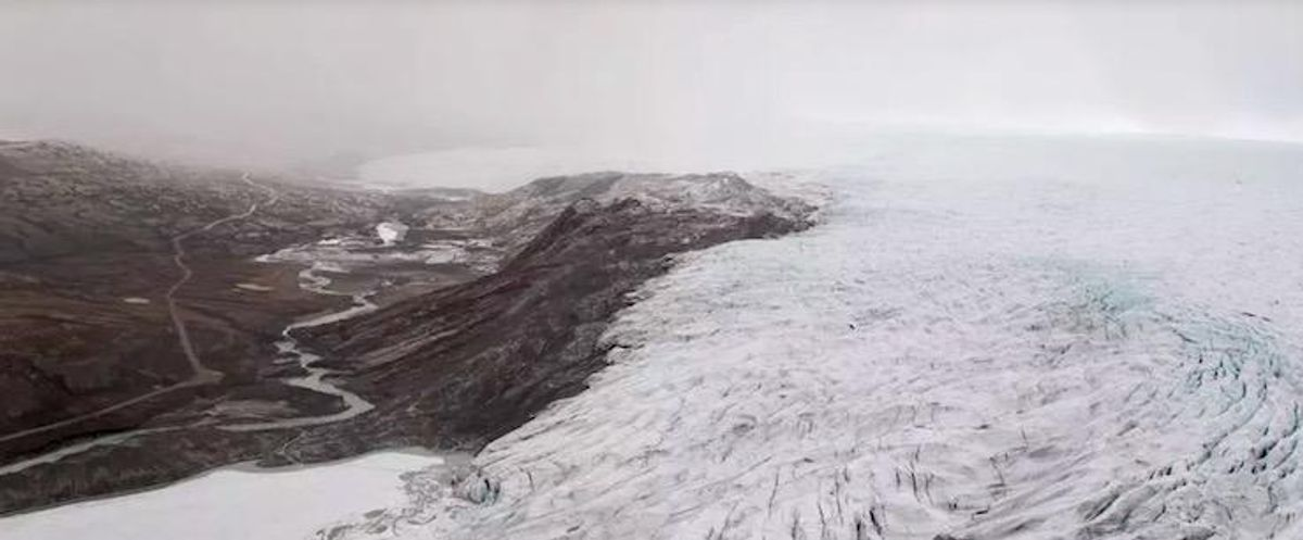 Rainfall observed at peak of Greenland ice sheet for first time on record
