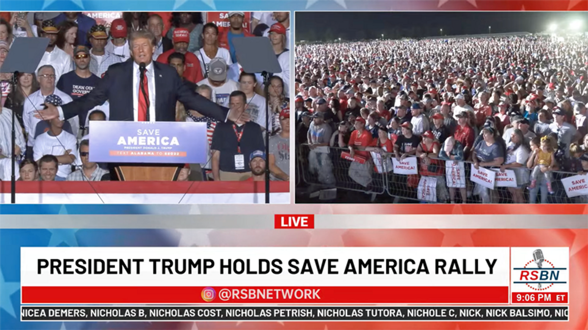 Trump jokes about Delta variant at Alabama rally feared to be superspreader event - Raw Story - Celebrating 17 Years of Independent Journalism