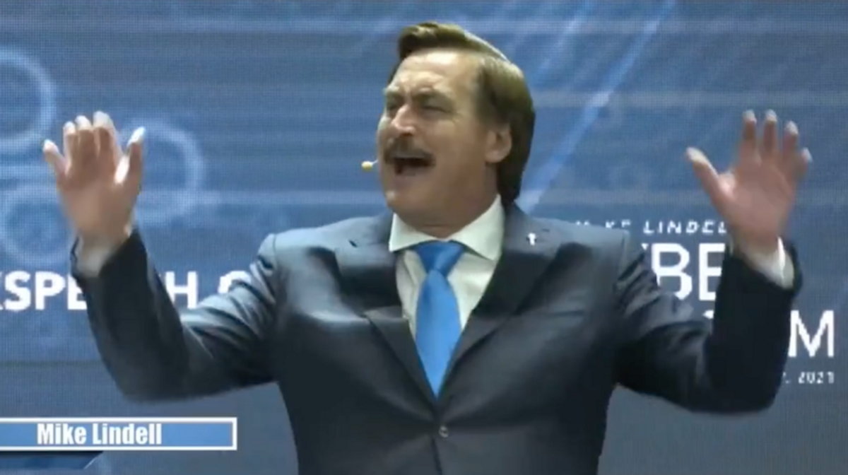 WATCH: Mike Lindell claims his evidence was 'compromised' in unhinged rant on final day of 'cyber symposium'