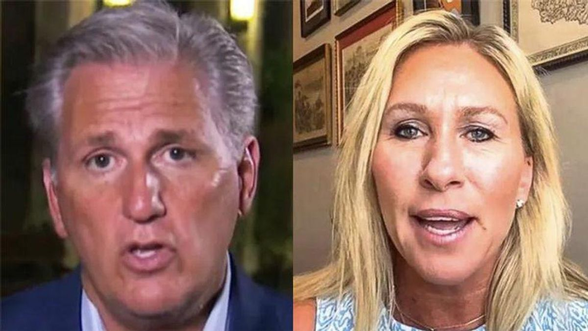 Kevin McCarthy and Marjorie Greene hit with ethics complaints for threatening telecom companies