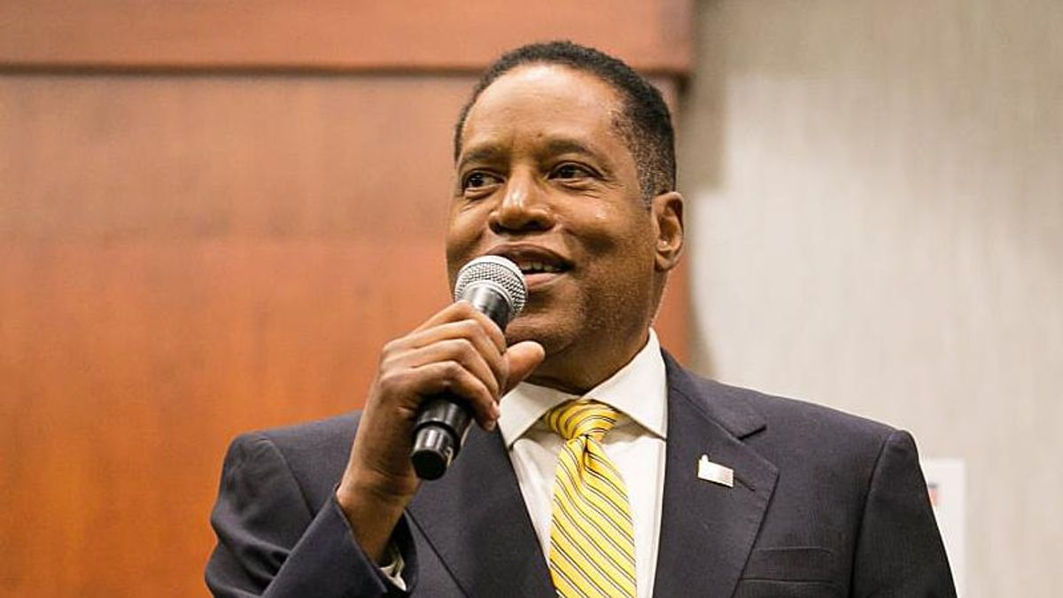 GOP's Larry Elder shows up at anti-vaxx megachurch and declares sex education 'has no role' in schools