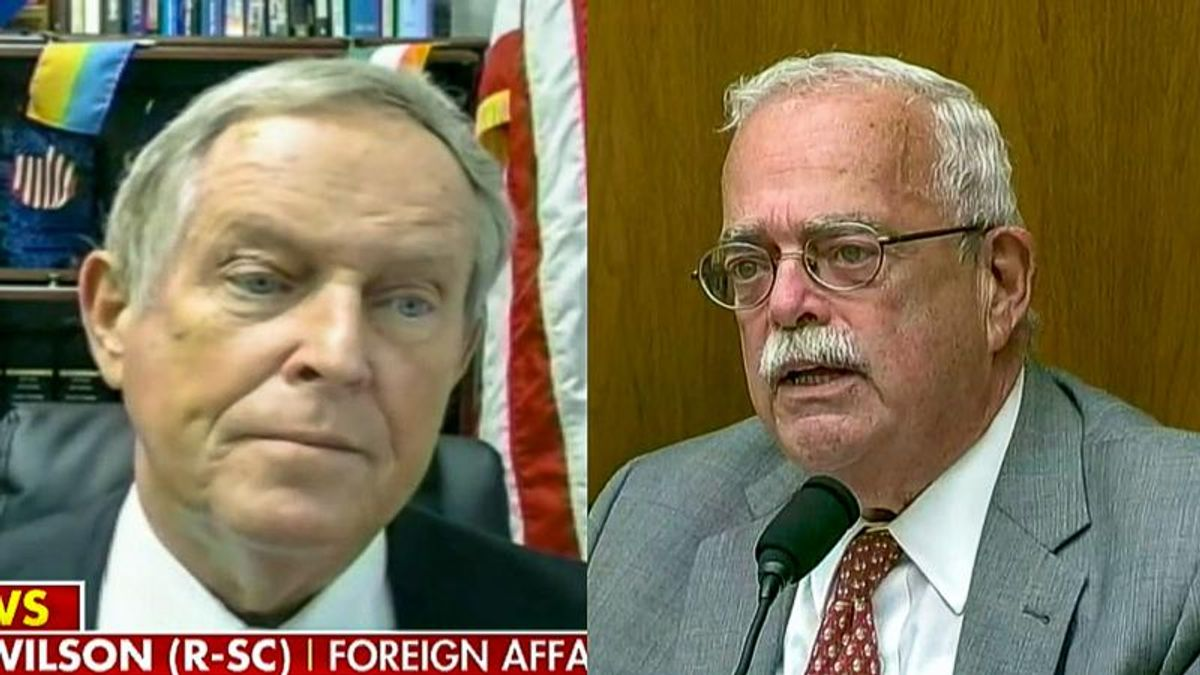 GOPer who screamed 'You lie' at Obama gets scolded in committee after he accuses Biden of lying