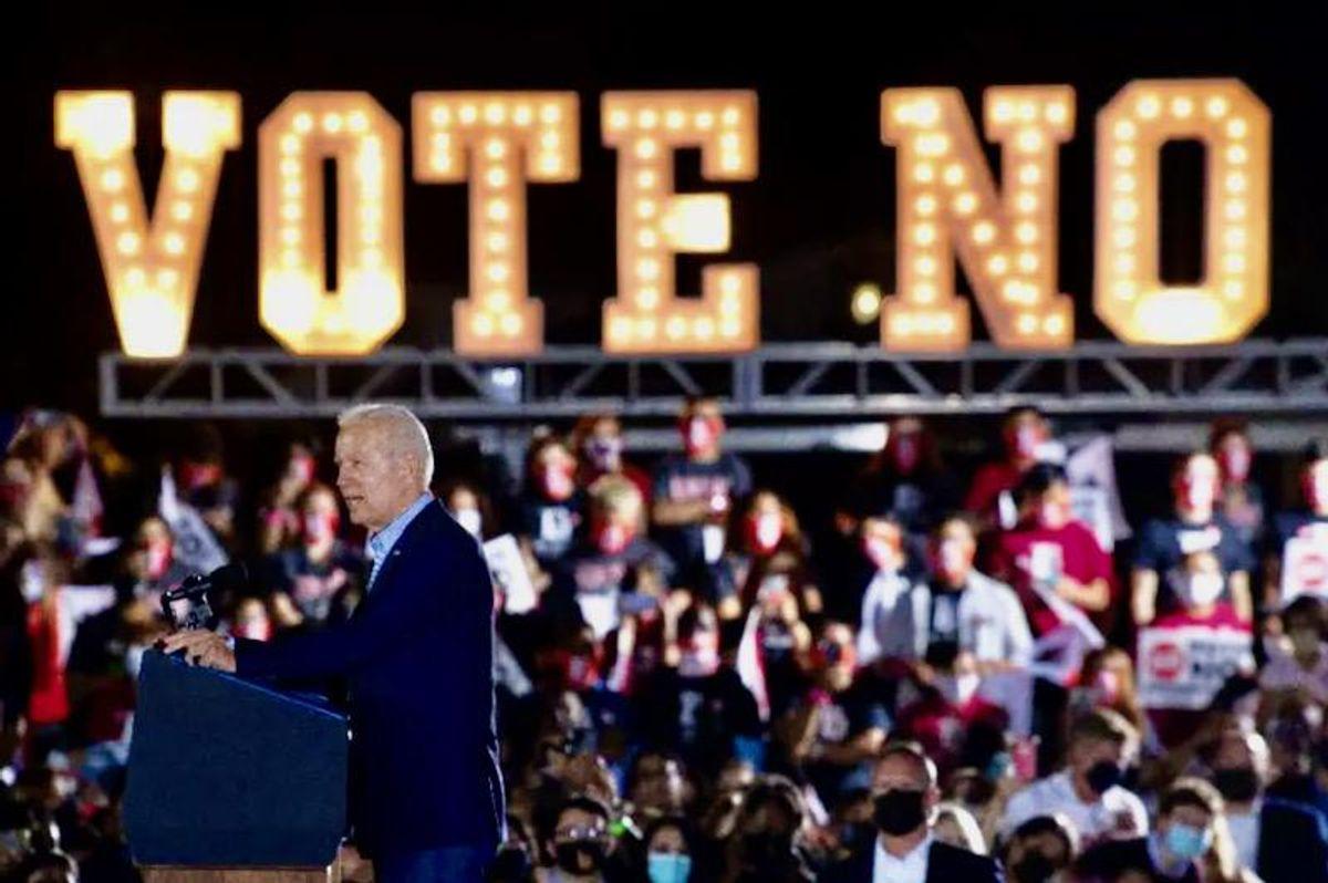 Biden stumps on eve of California governor recall