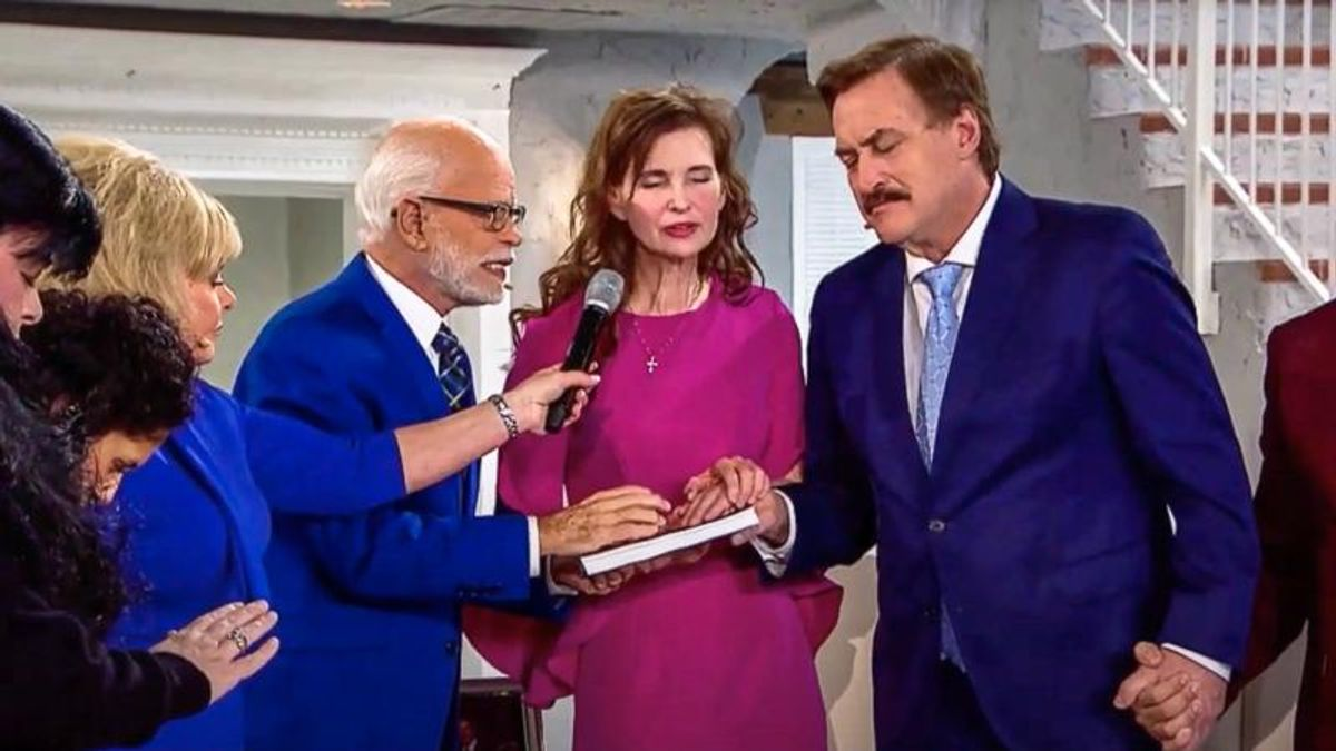 Mike Lindell teams up with televangelist Jim Bakker for 3-day 'telethon' filled with election lies