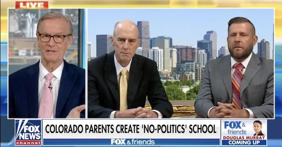Fox News promotes 'no politics public school' that 'encourages' parents to obtain a vaccination waiver
