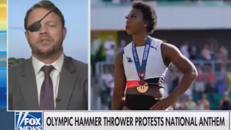 'Pathetic hypocrite': Dan Crenshaw blasted for attacking Black Olympian's anthem protest after voting against Jan. 6 commission