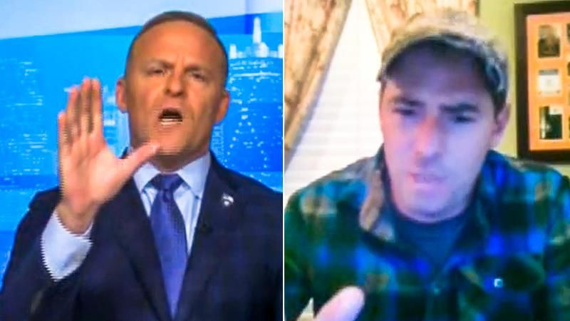 'Cut him off now!' Newsmax host goes berserk on Army veteran after he mildly criticizes Trump
