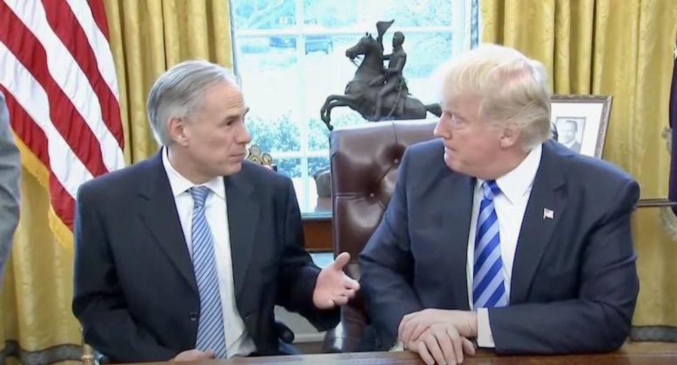 Greg Abbott shredded by Texas judge for giving Trump his voter fraud 'audit': 'He caved in minutes!'
